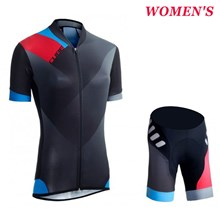 2016 Women Cube WLS Black Zero Cycling Jersey Short Sleeve Maillot Ciclismo and Cycling Shorts Cycling Kits cycle jerseys Ciclismo bicicletas XXS