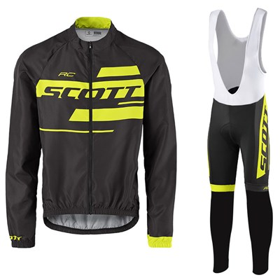 SCOTT RC Team 10 Wind Jacket Cycling Jersey Long Sleeve and Cycling bib  Pants Cycling Kits Strap-Up to 60% off d1232f3ce