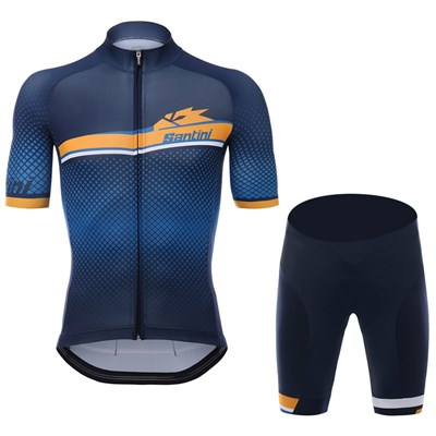 2017 GF STELVIO SANTINI BLUE Cycling Jersey Short Sleeve Maillot Ciclismo  and Cycling Shorts Cycling Kits cycle jerseys Ciclismo bicicletas-Up to 60%  off 620d73bb7