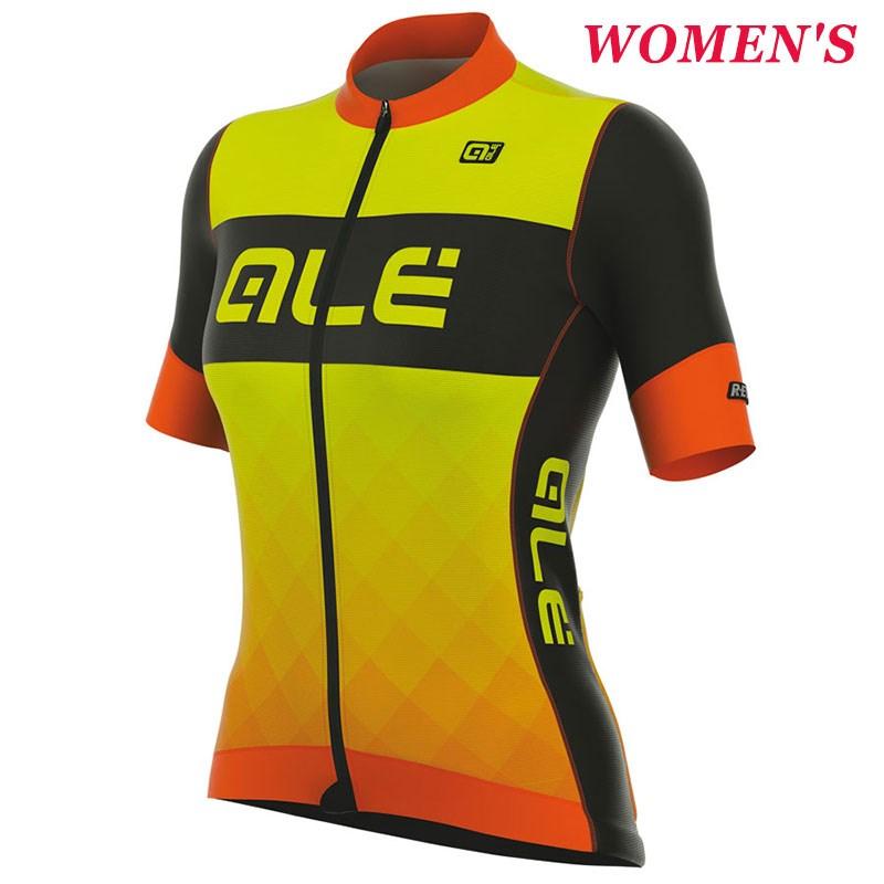 2017 Women s ALE R-EV1 RUMBLES ORANGE YELLOW FLUO Cycling Jersey ... b40d9b040