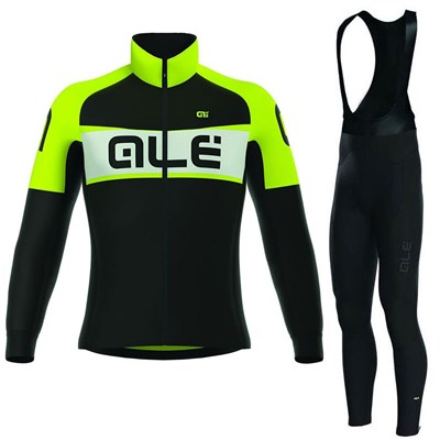 2017 ALE EXCEL WEDDELL BLACK YELLOW FLUO Cycling Jersey Long Sleeve ... fd4037145