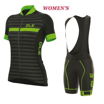 2017 Women s ALE EXCEL RIVIERA BLACK GREEN Cycling Jersey Maillot Ciclismo  Short Sleeve and Cycling bib Shorts Cycling Kits Strap cycle jerseys  Ciclismo ... a22109475