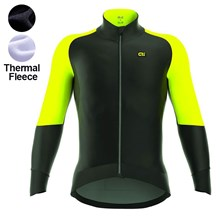 2017 ALE CAPO NORD BLACK YELLOW FLUO Thermal Fleece Cycling Jersey Ropa Ciclismo Winter Long Sleeve Only Cycling Clothing cycle jerseys Ropa Ciclismo bicicletas maillot ciclismo XXS