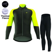 2017 ALE CAPO NORD BLACK YELLOW FLUO Thermal Fleece Cycling Jersey Ropa Ciclismo Winter Long Sleeve and Cycling Pants ropa ciclismo thermal ciclismo jersey thermal XXS