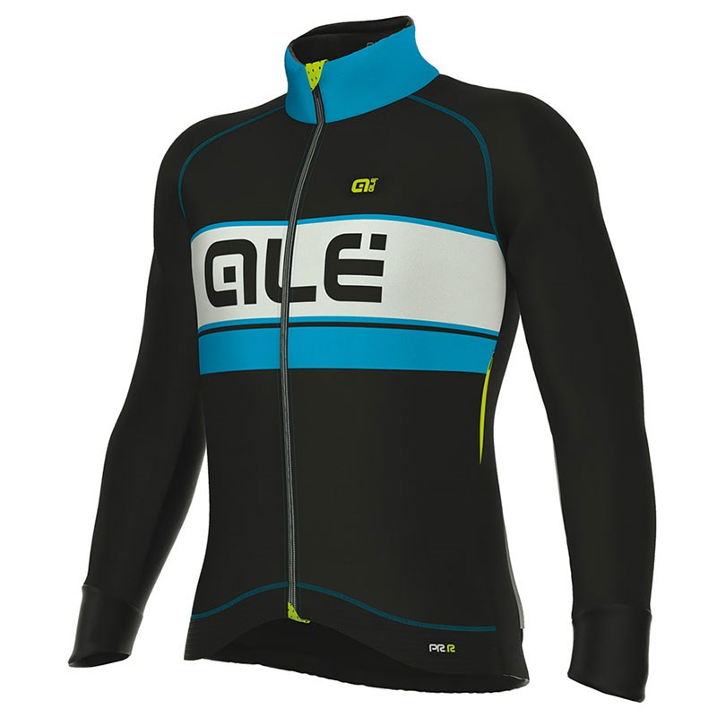 2017 ALE BERING BLACK LIGHT BLUE Cycling Jersey Long Sleeve and ... efde0d291