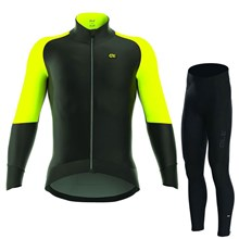 2017 ALE CAPO NORD BLACK YELLOW FLUO Cycling Jersey Long Sleeve and Cycling Pants Cycling Kits XXS