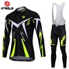 OTWZLS Cycling Jersey Long Sleeve and Cycling bib Pants Cycling Kits Strap S