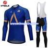 2018 AQUABLUE Cycling Jersey Long Sleeve and Cycling bib Pants Cycling Kits Strap S