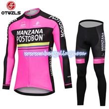 a7c6064fb 2018 MANZANA POSTOBON Cycling Jersey Long Sleeve and Cycling Pants Cycling  Kits S