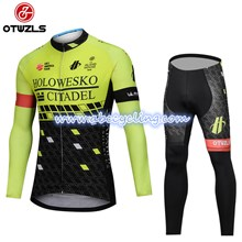 bf27ce6ff 2018 HOLOWESKO CITADEL BMC Fluo Cycling Jersey Long Sleeve and Cycling  Pants Cycling Kits S