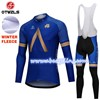 2018 AQUABLUE Thermal Fleece Cycling Jersey Long Sleeve Ropa Ciclismo Winter and Cycling bib Pants ropa ciclismo thermal ciclismo jersey thermal S