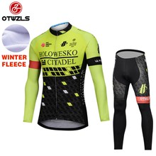 f87db5dd3 2018 HOLOWESKO CITADEL BMC Fluo Thermal Fleece Cycling Jersey Ropa Ciclismo  Winter Long Sleeve and Cycling Pants ropa ciclismo thermal ciclismo jersey  ...