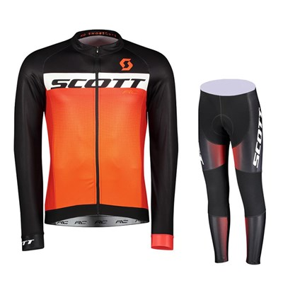 ed95baa90 2017 Scott RC AS Cycling Jersey Long Sleeve and Cycling Pants Cycling  Kits-Up to 60% off