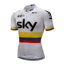 2018 Sky Cycling Jersey Ropa Ciclismo Short Sleeve Only Cycling Clothing cycle jerseys Ciclismo bicicletas maillot ciclismo XS
