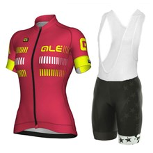 2018 ALE Women Cycling Jersey Maillot Ciclismo Short Sleeve and Cycling bib  Shorts Cycling Kits Strap 0bcf81e52