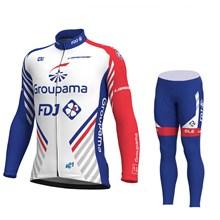 5ad287a2b 2018 Groupama FDJ Cycling Jersey Long Sleeve and Cycling Pants Cycling Kits  XS
