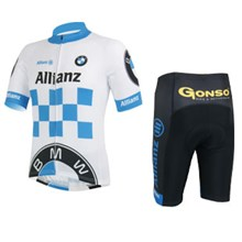 2013 bmw Cycling Jersey Short Sleeve and Cycling Shorts Cycling Kits S