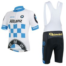 2013 bmw Cycling Jersey Short Sleeve and Cycling bib Shorts Cycling Kits Strap S