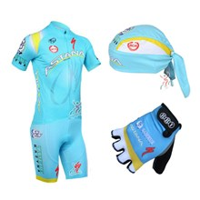 ... 2013 astana Cycling Jersey+bib Shorts+Gloves+Cap 6194e4ded