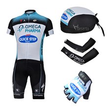 2013 quick-step Cycling Jersey+Shorts+Scarf+Arm sleeves+Gloves