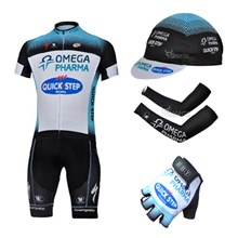 2013 quick-step Cycling Jersey+Shorts+Cap+Arm sleeves+Gloves