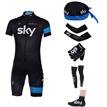 2013 sky Cycling Jersey+Shorts+Scarf+Arm sleeves+Gloves+Leg sleeves+Shoes covers