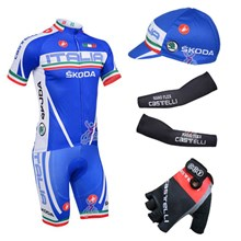 2013 castelli Cycling Jersey+Shorts+Cap+Arm sleeves+Gloves