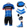 2013 garmin Cycling Jersey+Shorts+Scarf+Arm sleeves+Gloves+Shoe Covers S