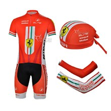 2013 ferrari Cycling Jersey+Shorts+Scarf+Arm sleeves S
