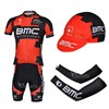 2013 bmc Cycling Jersey+Shorts+Cap+Arm sleeves S