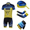 2013 saxo bank Cycling Jersey+bib Shorts+Scarf+Arm sleeves+Gloves S