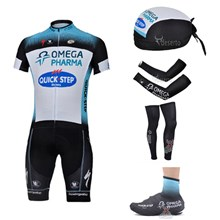 2013 quick step Cycling Jersey+bib Shorts+Scarf+Arm sleeves+Leg sleeves+Shoes Covers