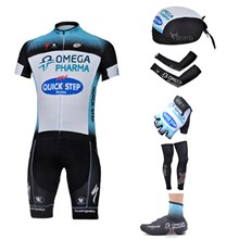 2013 quick step Cycling Jersey+bib Shorts+Scarf+Arm sleeves+Gloves+Leg sleeves+Shoes Covers