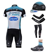 2013 quick step Cycling Jersey+bib Shorts+Cap+Arm sleeves+Leg sleeves+Shoes Covers