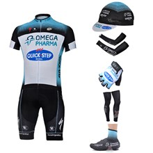 2013 quick step Cycling Jersey+bib Shorts+Cap+Arm sleeves+Gloves+Leg sleeves+Shoes Covers