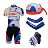 2013 lotto Cycling Jersey+bib Shorts+Scarf+Arm sleeves+Gloves S