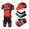 2013 bmc Cycling Jersey+bib Shorts+Cap+Arm sleeves+Gloves S
