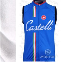 2013 Castelli Winter Thermal Fleece Cycling Windproof Vest Sleevesless ciclismo