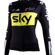 2012 women SKY Cycling Jersey Long Sleeve Only Cycling Clothing