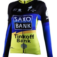 2012 women saxo bank Cycling Jersey Long Sleeve Only Cycling Clothing