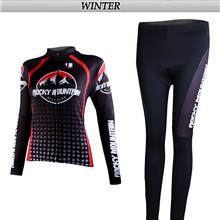 2012 women rocky Cycling Jersey Long Sleeve and Cycling Pants Cycling Kits
