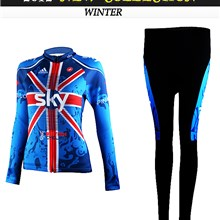 2012 women SKY Cycling Jersey Long Sleeve and Cycling Pants Cycling Kits