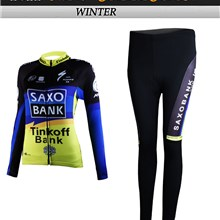 2012 women saxo bank Cycling Jersey Long Sleeve and Cycling Pants Cycling Kits