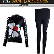 2012 women FDJ Cycling Jersey Long Sleeve and Cycling Pants Cycling Kits
