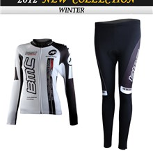 2012 women BMC Cycling Jersey Long Sleeve and Cycling Pants Cycling Kits