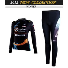 2012 women bianchi Cycling Jersey Long Sleeve and Cycling Pants Cycling Kits