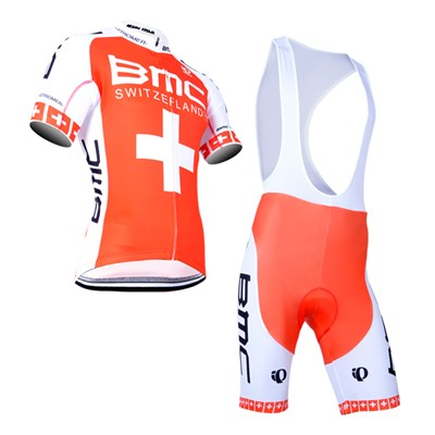 2014 BMC Cycling Jersey Short Sleeve and Cycling bib Shorts Cycling Kits Strap