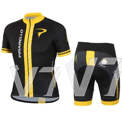 2014 pinarello black Cycling Jersey Short Sleeve and Cycling Shorts Cycling Kits
