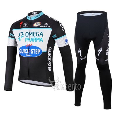 2014 QUICK STEP Cycling Jersey Long Sleeve and Cycling Pants Cycling Kits