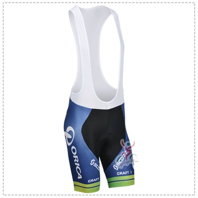 2014 Orica Greenedge white Cycling bib Shorts Only Cycling Clothing